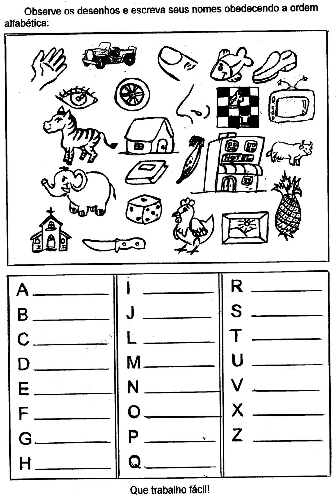 Muitas vezes Atividades de alfabetização para imprimir para aprender a ler e  SY24