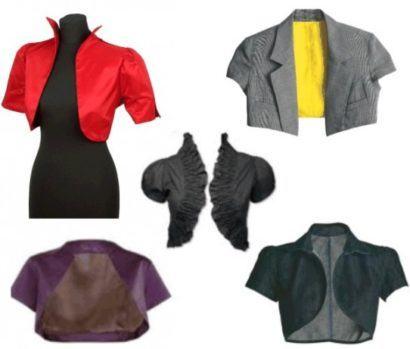 boleros femininos de manga curta