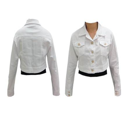 boleros femininos jeans branco