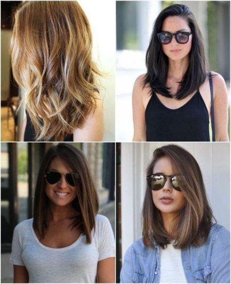 cabelos long bob diferentes modelos
