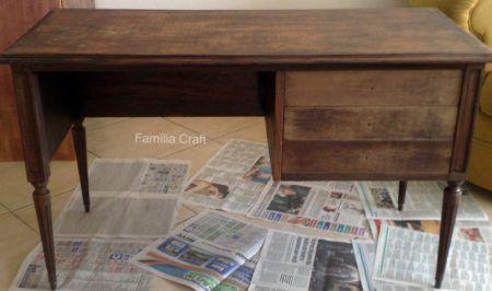 como reformar escrivaninha de madeira com pintura