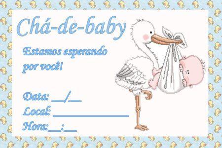 convites prontos para chá de bebê unissex