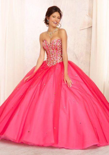 vestidos de 15 anos rosa pink