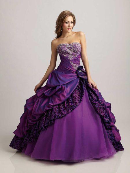 vestidos de 15 anos roxo escuro