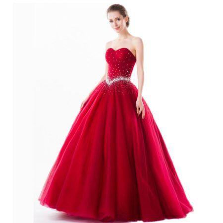 vestidos de 15 anos vermelho com detalhes em prata