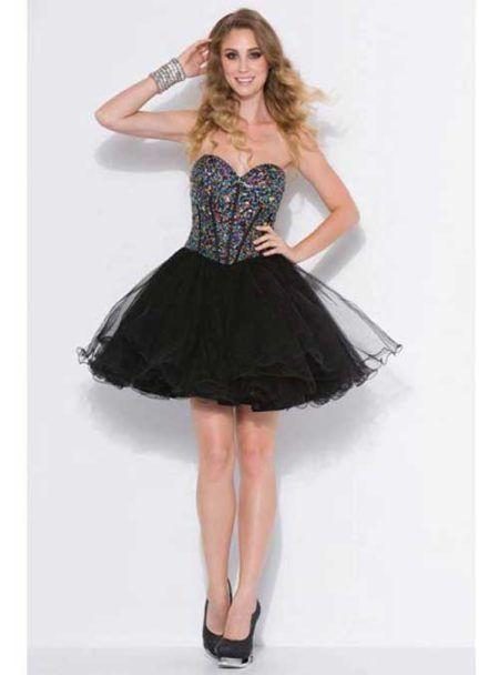 vestidos para debutantes curto preto