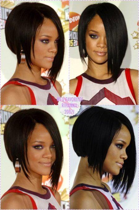 cortes de cabelos assimetricos para negras