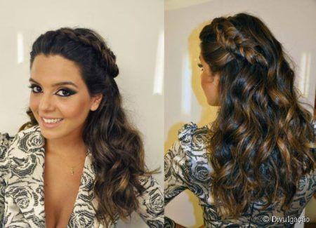 penteados com trança para madrinha de casamento