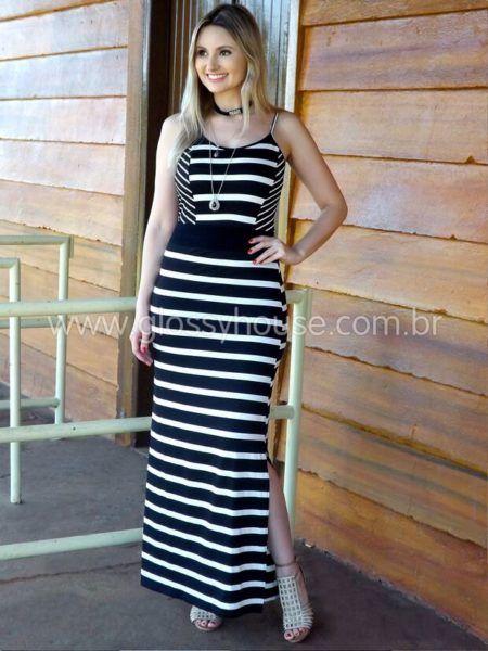 98e39eb3a29e7 Olha este modelo de alcinhas com listras mais largas e mais estreitas  dispostas de maneira diferente deixando a mulher muito elegante e pronta  para uma ...