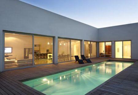 casas em l veja dicas plantas quartos piscina bela