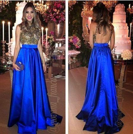 Vestido azul p madrinha de casamento