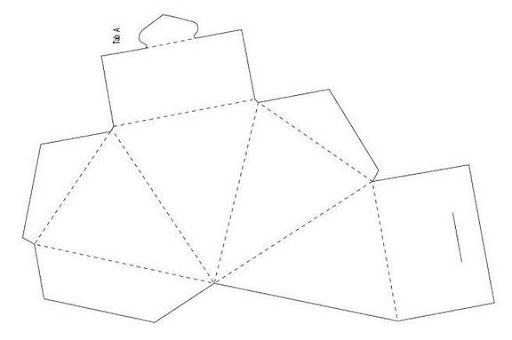 Molde de CAIXINHA de papel de diversos formatos