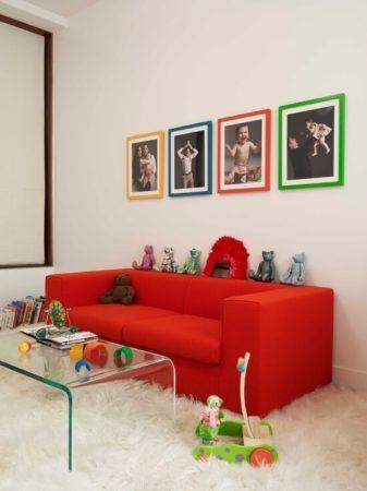Sala com SOFÁ VERMELHO você verá como decorar com sofisticação
