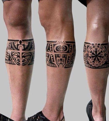 Inspira es para fazer uma tatuagem masculina na perna bela feliz - Tatouage maori jambe ...