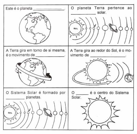 Atividade Sobre O Sistema Solar Para Estudantes Bela Feliz