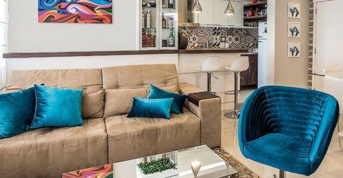 Decora o azul turquesa paredes m veis ambientes bela for Paredes azul turquesa