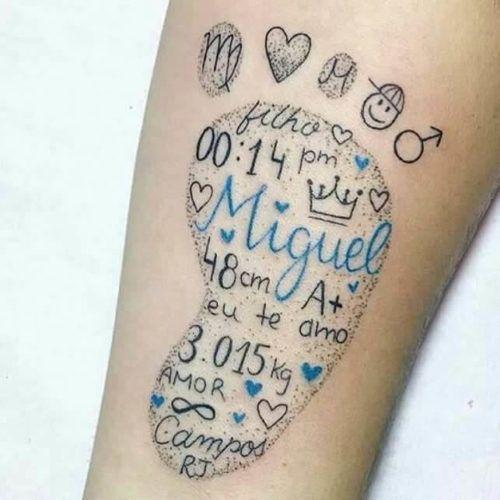 Tatuagem Para Filhos Casal Masculina Feminina E Mais