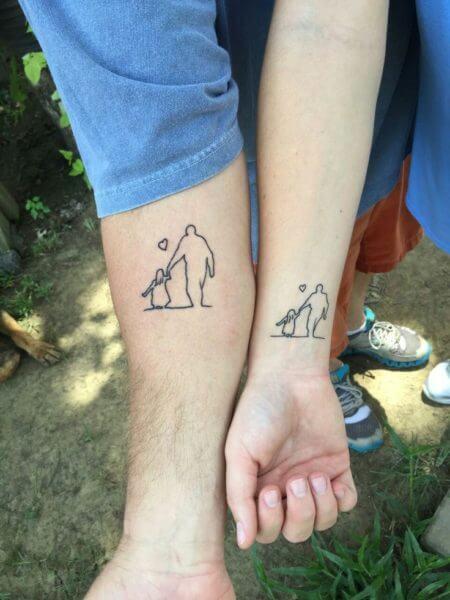 Tatuagem Para Filhos Casal Masculina Feminina E Mais Bela Feliz