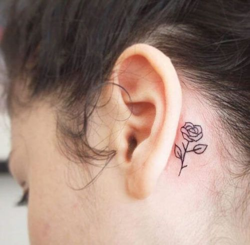 Tatuagem Atrás Da Orelha Feminina Desenhos Legais Bela