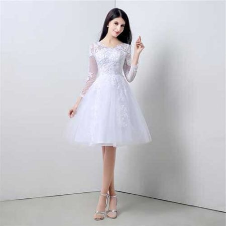 Modelos de Vestido de Noiva Curto, para (Cerimônias inesquecíveis)