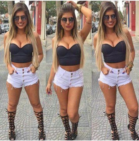 Shorts Hot Pants moda Verão 2020, Looks